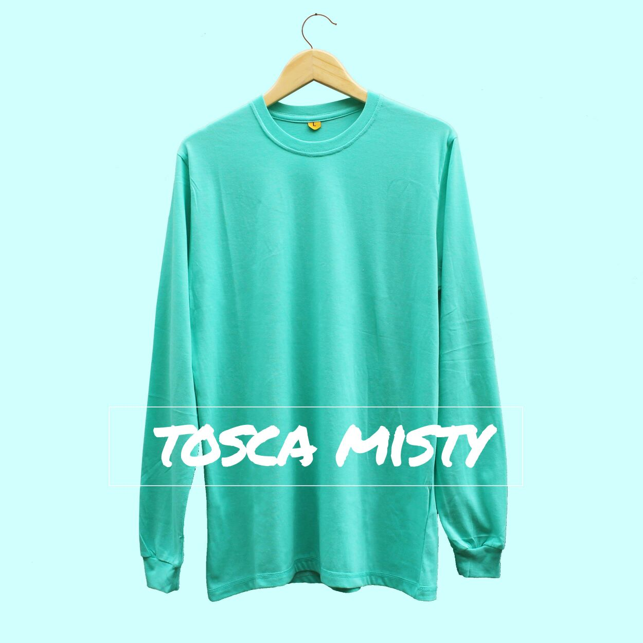 Cotton Cloths Shop Line Kaos Polos Navy Misty Longsleeve Tosca