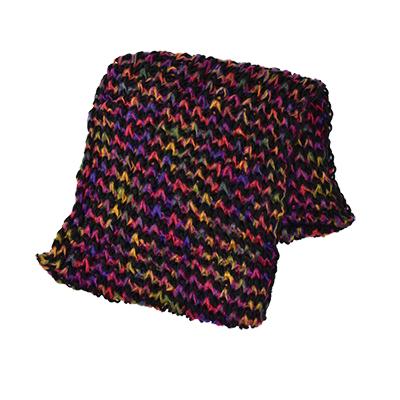 日本圍脖-寬版彩色針織圍巾-玄衣美舖