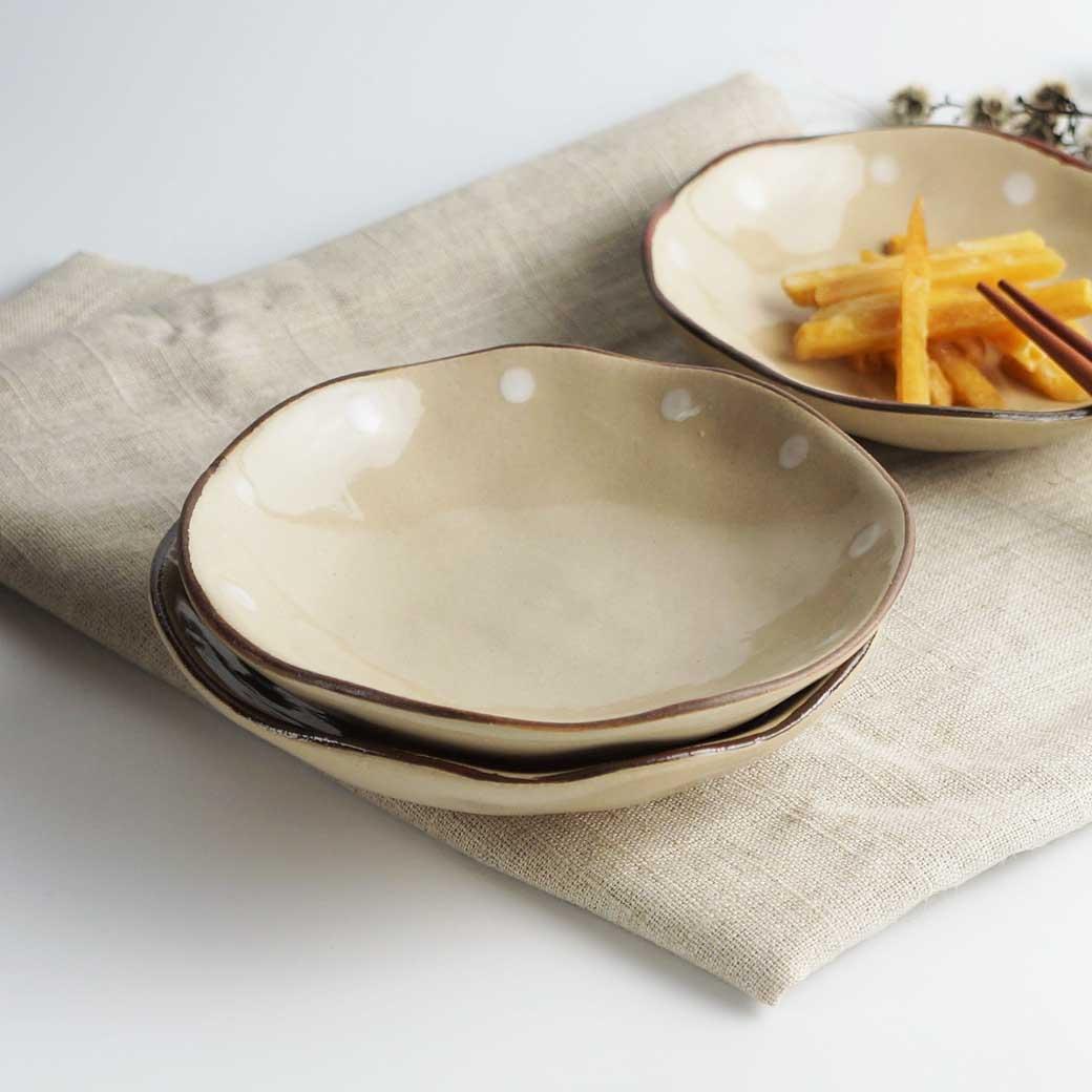 【Caldo卡朵生活】日式古拙波點手感小餐碟