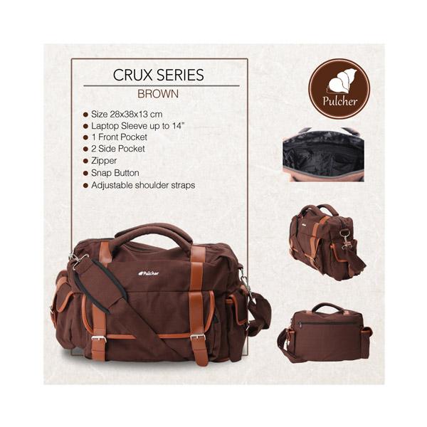 Tas|Pria|Selempang|Sling|Postman|Bag|Brown|Coklat |Crux Series