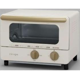 アイリスオーヤマ オーブントースター 「ricopa(リコパ)」 [1000W/食パン2枚] EOT-R1001-C アイボリー
