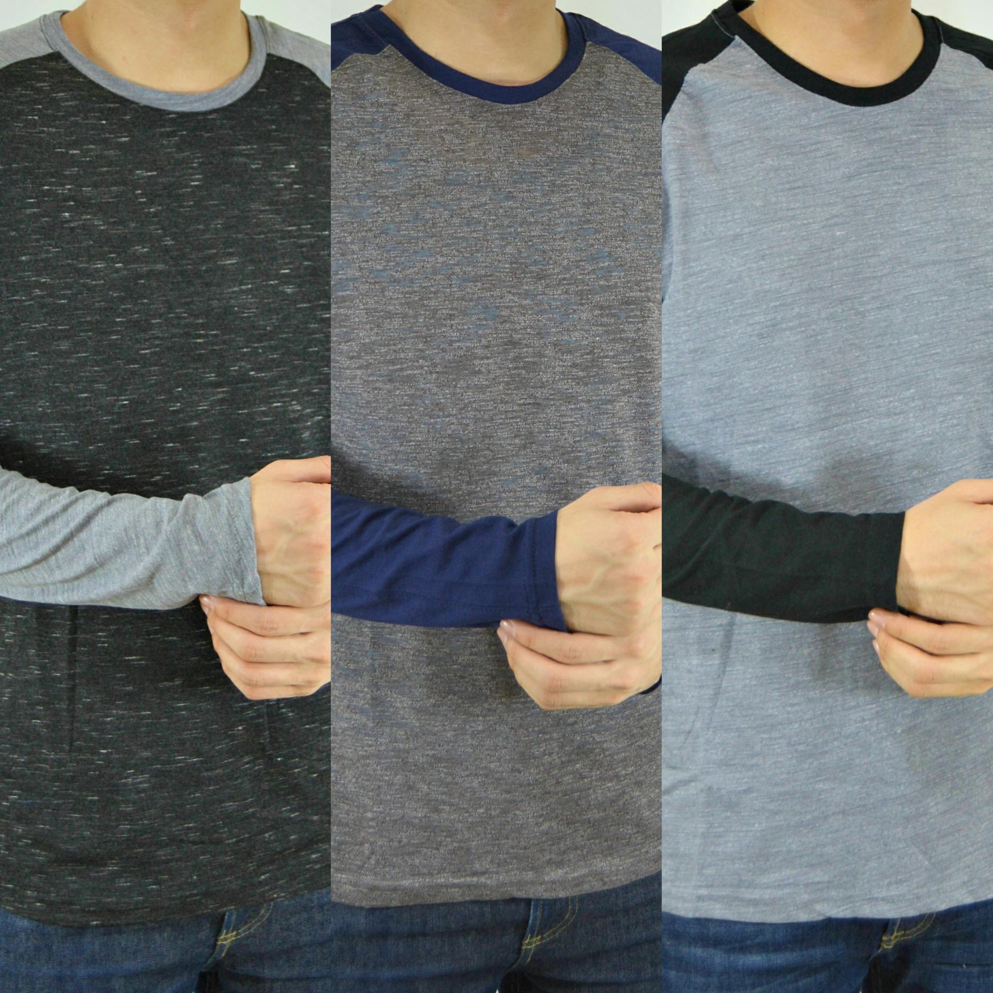 Kaos Lengan Panjang Pria Sweatshirt Sweater Baju Cowok Atlantis Ethnic Ls P2 137 Man Shirt Polos Polosan Tangan