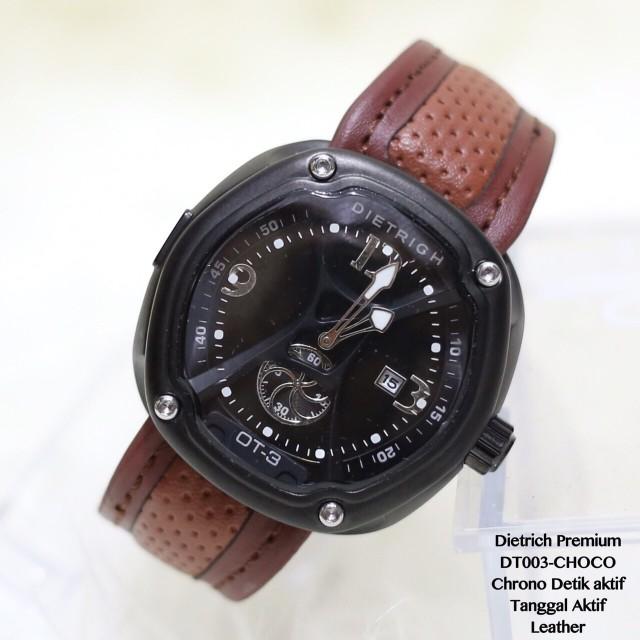 Jam tangan pria cowok DIETRICH leather chrono detik tanggal aktif dw: Rp 189.000 Rp 169.000
