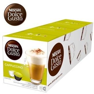 即期品★限期買4送1(共5盒) 雀巢 新型膠囊咖啡機專用 卡布奇諾咖啡膠囊 (一條三盒入) 料號 12352798 ★義式與奶泡的濃郁風味