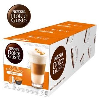 雀巢 新型膠囊咖啡機專用 焦糖瑪奇朵咖啡膠囊 (一條三盒入) 料號 12180872 ★拿鐵與焦糖的戀愛滋味