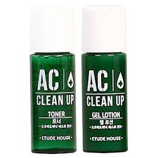 [2PCS] ETUDE HOUSE AC CLEAN UP TONER & GEL LOTION 5 ML