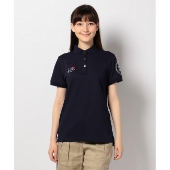 23区 3色超長綿シルケットカノコ ポロシャツ レディース