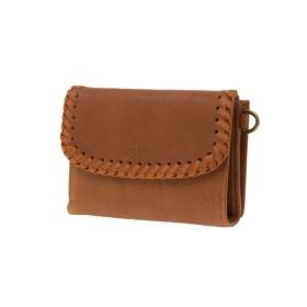 【オンワード】 genten(ゲンテン) genten ゲンテン ウールシープ 二つ折り財布 キャメル フリー レディース