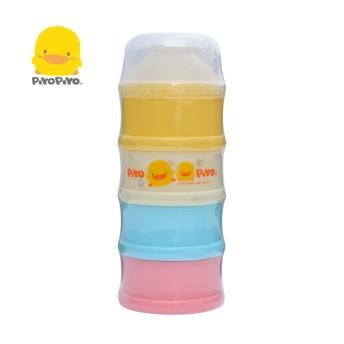 黃色小鴨 彩色特大四層奶粉盒