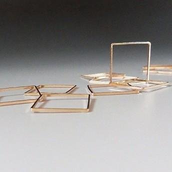 シンプルメタルリング レジン枠(四角12mm)10個セット
