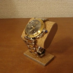 だ円腕時計スタンド ベルト台座接触バージョン 台座上コルク(普通コルク)あり