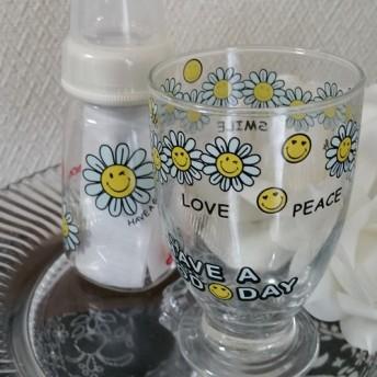 ママ用グラスと哺乳瓶(小)