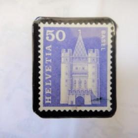 スイス 切手ブローチ1506