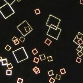 メタルパーツ 四角Mix(ゴールド2サイズ 各20枚セット)★レジン&ネイルに使える封入素材