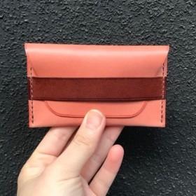 名刺・カードケース(ピンク&チョコ)