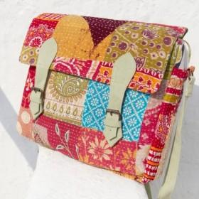 バックパック/ショルダーバッグ刺繍/刺繍メッセンジャーバッグ/ハンドステッチサリーラインメッセンジャーバッグ/バックパックのステ