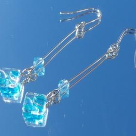 11月宝石ガラス『トパーズ』ピアス/イヤリング【金具変更可】【受注制作】