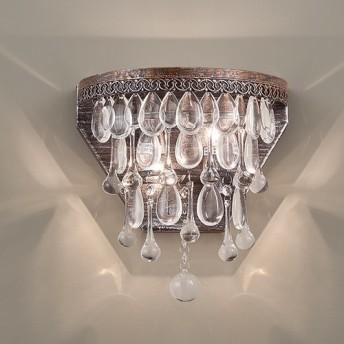 古いカントリースタイルのガラスの壁ランプ-LS-7193から3ブロンズ