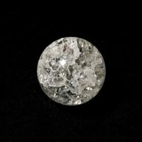 【L-09a】クラック水晶 20mm 1粒 穴あり