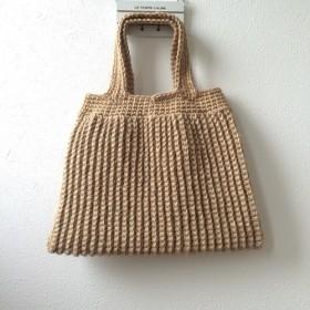麻のカギ編みバック 《きなり》