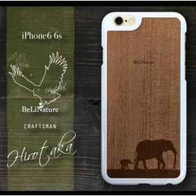 Phone6 6s ゾウが大好きな方々とっての最高のiケース ホワイト(親子ゾウ)