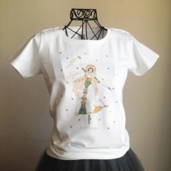 (即日発送・Lサイズ完売!)★ロパートキナ限定コラボ商品★ ロシアの踊りTシャツ(レディース)