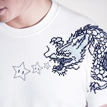 buyMood白目叮 Tシャツ/8bit Dragon Tattoo T-Shirt