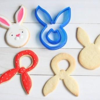 ウサギとスカーフクッキー型・クッキーカッター