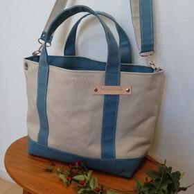 【刻印無料】100色から選べるトートバッグ&ショルダーベルト(Mサイズ)