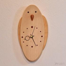 「送料無料」インコの掛け時計【クオーツ時計】