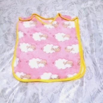 ふわふわ羊のスリーパー・ベスト(ピンク)