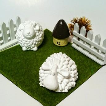 可愛い羊形のアロマストーンオブジェ