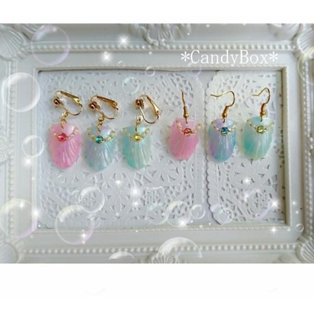 再販 人魚姫の鱗アクセサリー ジュエリーシリーズ ピアス