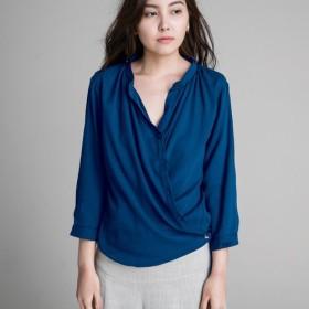 クロスシャツ - ブルー