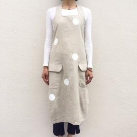 キッチンとおでかけの法則 バルーン (麻・リネン/ エプロンジャンパースカート)