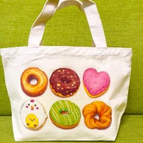 ドーナッツ柄のトートバッグ