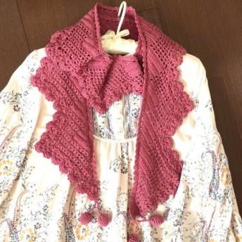 【期間限定SALE5月末まで】三角編みのストール