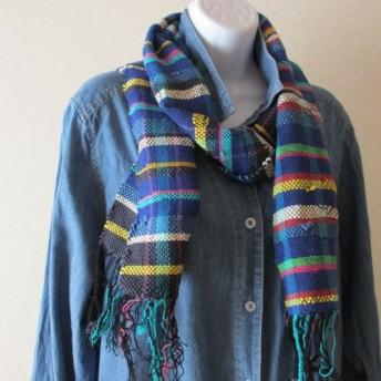 手織りマフラー 05