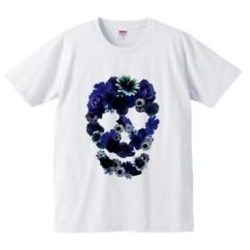 スカルフラワー Tシャツ(men) 花 FLOWER