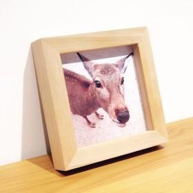 バンビ写真×手作りの木製フレーム