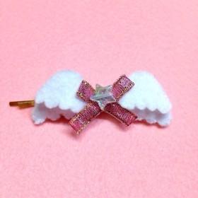 【受注製作】天使の ふわふわリボンヘアピン