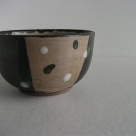 しずく模様黒茶碗(小)