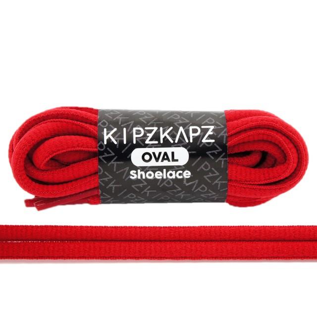 KipzKapz OS9 True Red 90cm / 115cm / 140cm - Tali Sepatu Oval Shoelace: Rp 28.000