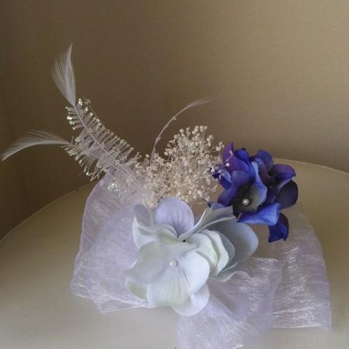 f0fa8a7f732c7 結婚式・成人式に ブルー紫陽花が素敵なヘッドドレス 通販 LINEポイント最大1.0%GET