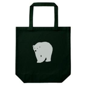 動物トートバッグ-シロクマ(ブラック)