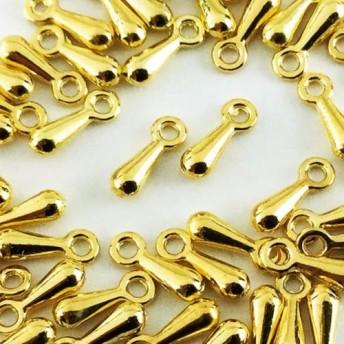 送料無料 アジャスター チェーン 用 金具 しずく ゴールド 50個 ネックレス チョーカー ブレスレット AP0366