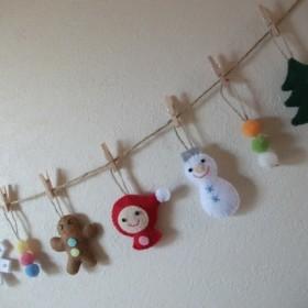 【受注制作品】*クリスマス*キュートな♪ フェルト ガーランド☆