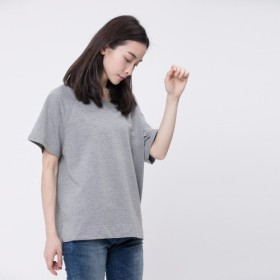 French terry Relaxed Raglan Top / Heather Grey Project 007