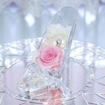 スワロフスキーとパールのシンデレラの靴 (ピンク)