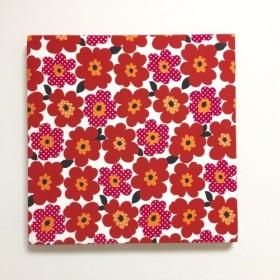 北欧poppyのファブリックパネル レッド